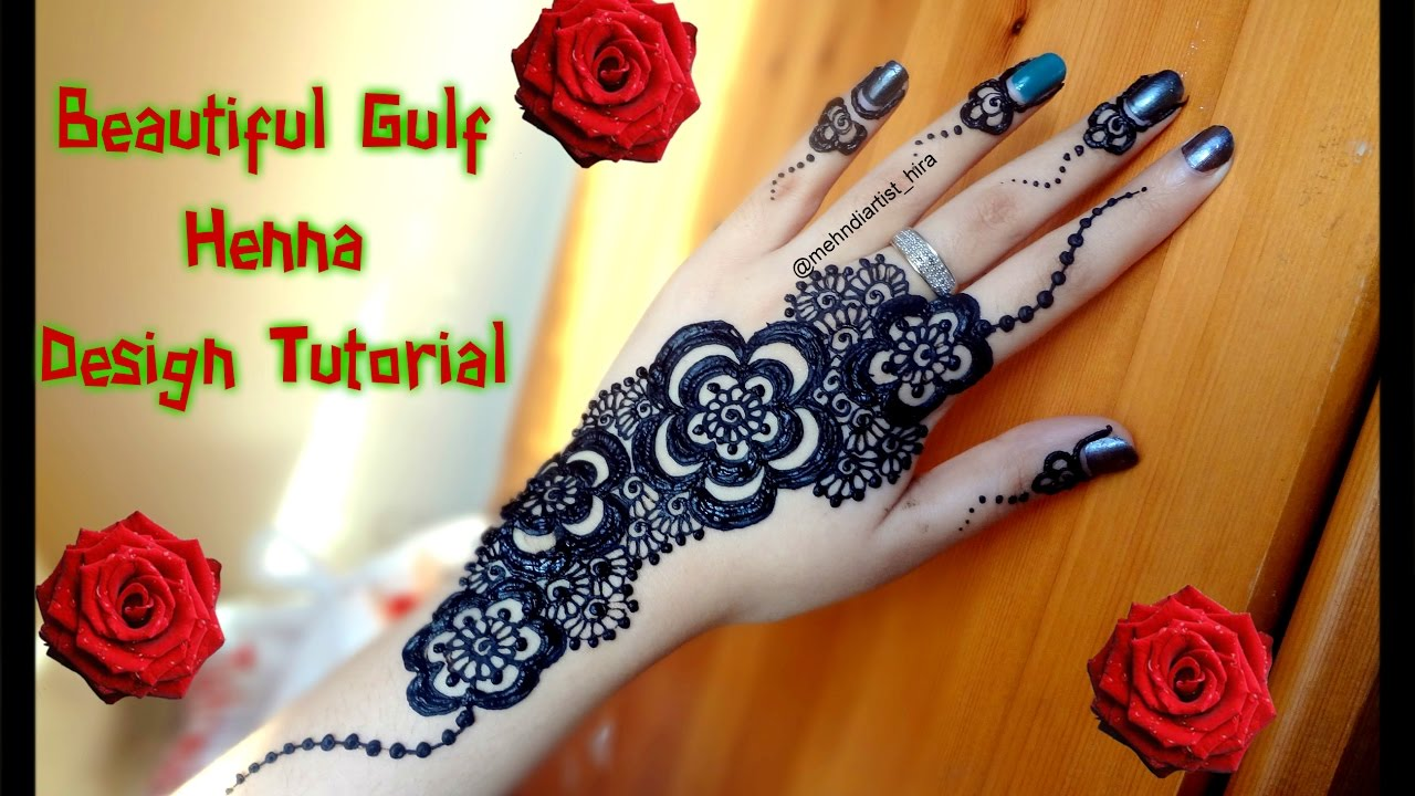 Mehndi design 2017 eid - How To Apply Easy Simple Arabic Gulf Mehndi Designs For Hands Tutorial For Eid Diwali Weddings 2017