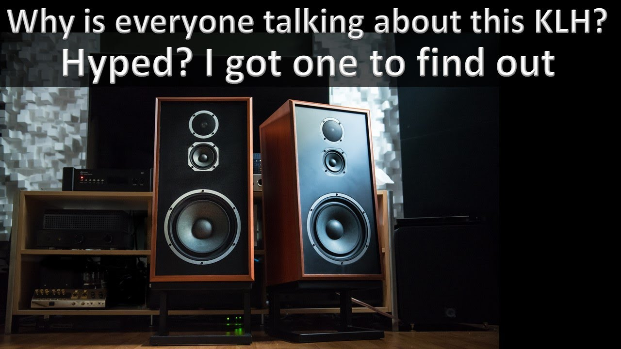 This is how you modernize a vintage speaker. KLH Model 5 speaker thoughts and review