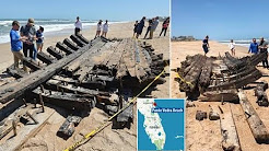 (Holy Grail of shipwrecks) Historic hull of 18th century ship washes ashore in Florida
