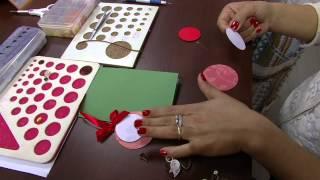 Mulher.com - 28/09/2015 - Cartão de Natal com tecnica de quilling - Tais Silva