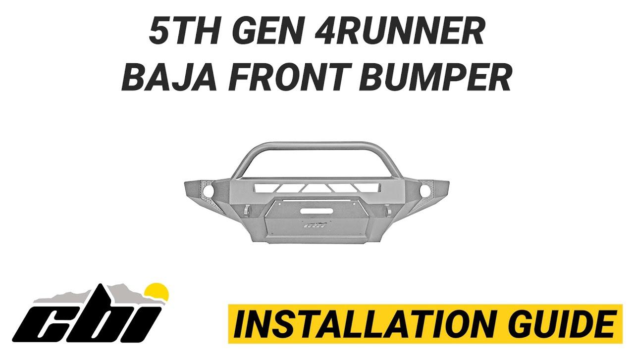 CBI INSTALL: Toyota 5th Gen 4Runner Baja Front Bumper