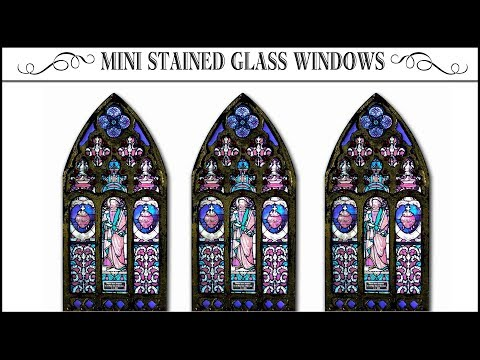 ⚜Miniature Stained Glass