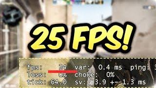 CS:GO ale gram na 25 fpsach i jest bardzo ciężko
