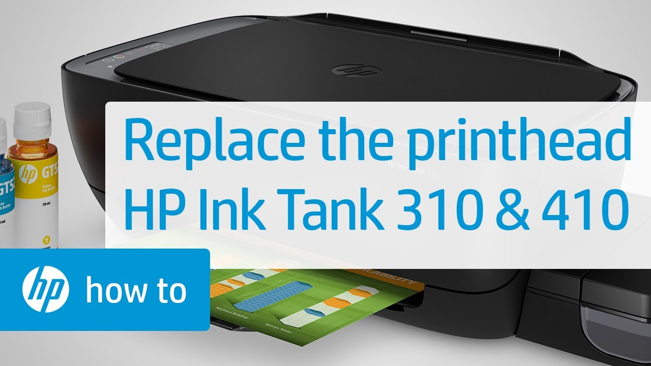 Replacing A Printhead Hp Ink Tank 310 And 410 Printer Series Hp Youtube