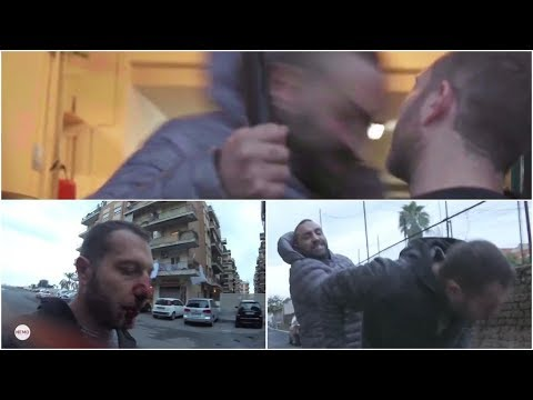 Reporter gets hit with a HEADBUTT by a MAFIA BOSSES Brother on LIVE TV!!