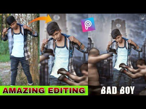 HOW TO MAKE - PICSART BAD BOY | MOVIE POSTER PHOTO EDITING TUTORIAL | YO EDIT