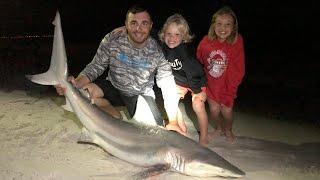 Pensacola Beach Fishing! Sharks on the Beach!
