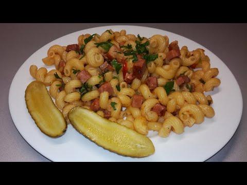 Těstoviny s anglickou slaninou recept