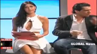 Итальянская телеведущая и ее нижнее белье в прямом эфире! Шок!