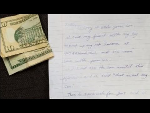 'Accidentally Stolen' Car Returned With Apology Note and Gas Money