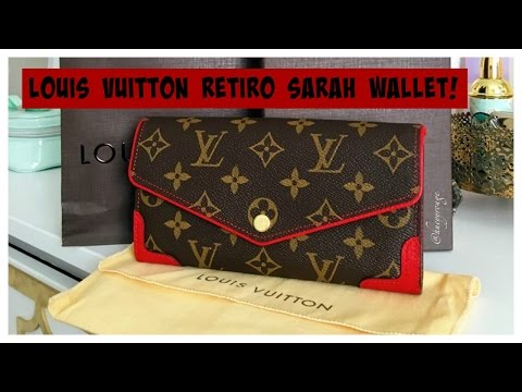 2b0052e683657 Louis Vuitton Retiro Sarah Wallet - YouTube