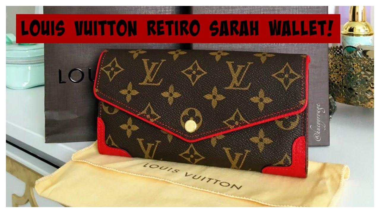 b9f9a36a3fb8d Louis Vuitton Retiro Sarah Wallet