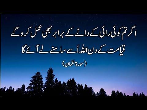 Very Beautiful Recitation of Quran Surah Luqman with Urdu Translation