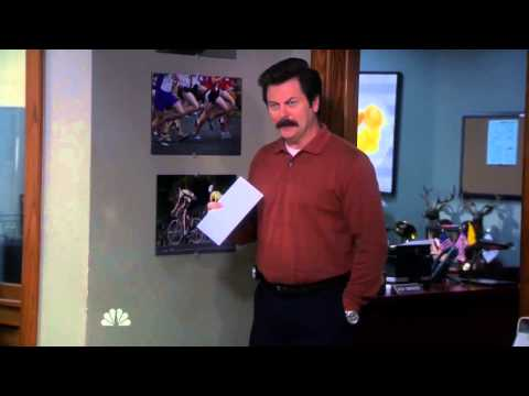 Ron Swanson's letter to Canada (Parks and Recreation, S06 E14)