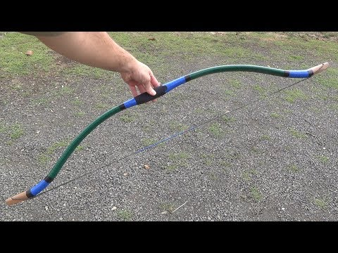 Finishing a 40 Pound PVC Bow with Tape - Easy, Fast, Durable Finish for DIY Bows