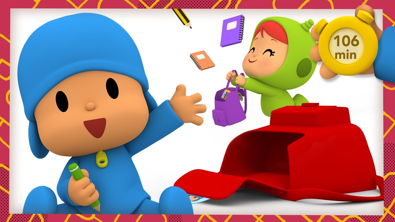 🎒 POCOYO AND NINA - My backpack for school [106 min] | ANIMATED CARTOON for Children | FULL episodes