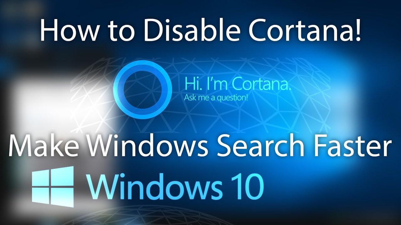 remove cortana but keep search bar