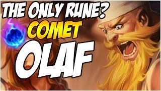 THE ONLY RUNE FOR OLAF? ARCANE COMET | League of Legends