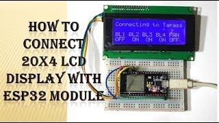 Esp32 i2c lcd video clip