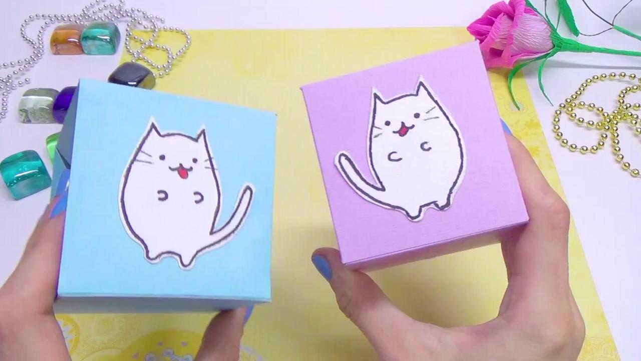 Diy Paper Crafts Idea Diy Kawaii Cat Easy Paper Toys Diy