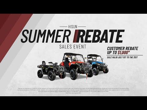 HISUN Motors Summer Rebate Sales Event - YouTube