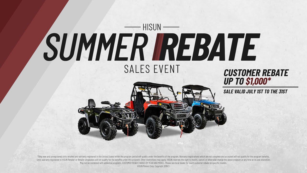 HISUN Motors Summer Rebate Sales Event