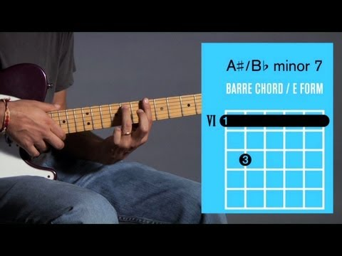How to Play B♭ m7 / A ♯ m7 Barre Chord | Guitar Lessons