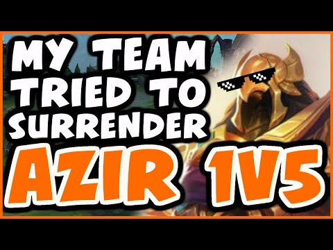 CHALLENGER AZIR SHOWS YOU HOW TO 1v5 | HUGE COMEBACK - League of Legends