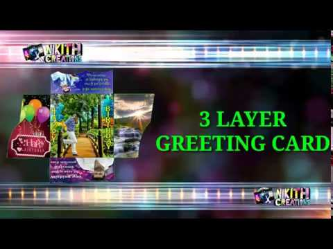3 layer greeting card | photo greeting card | Greeting cards for all occasions