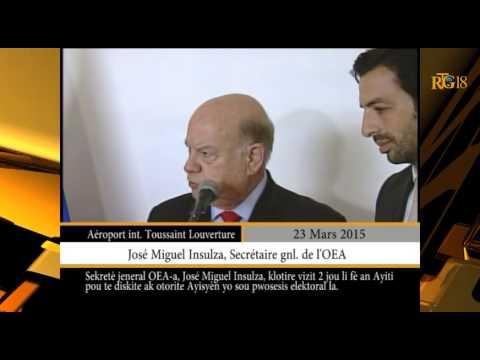 Clôture de visite du Secrétaire gnl  de l'OEA, José Miguel Insulza en Haïti