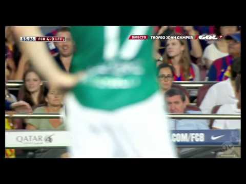Barcelona vs Club Leon 2014 6 0 Munir elHaddadi Goal Friendly Match 2014 FULL HD
