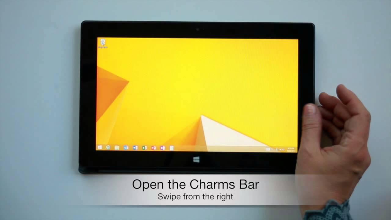 Windows 8 1 Touch Gestures
