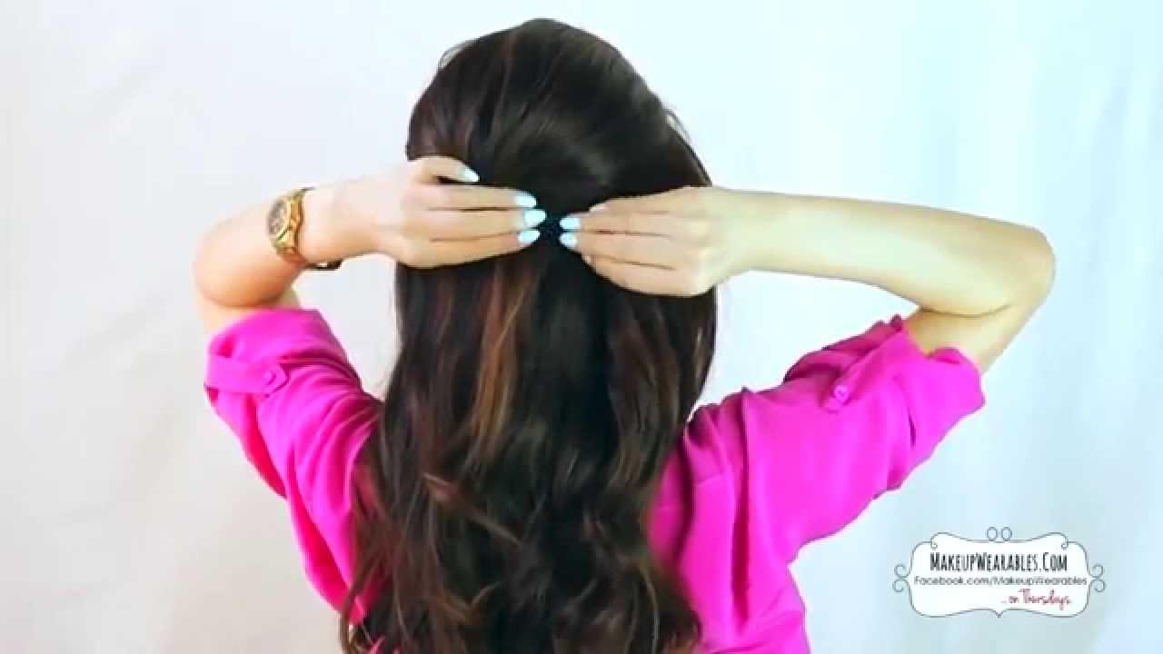 Penteado Super Fácil Para Cabelos Longos