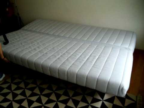 Open and close pull out sofa / sofa bed - YouTube