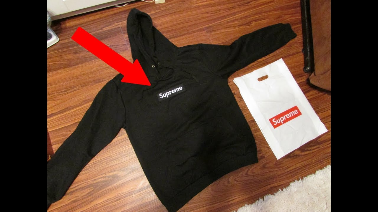5f185280164 UNBOXING A GOOD FAKE SUPREME HOODIE! - YouTube