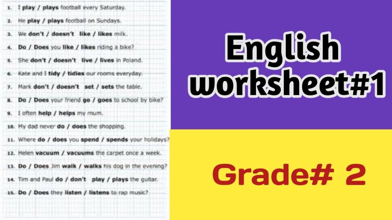 small resolution of English worksheet#1/English worksheets/ Grade#2 /Jun27