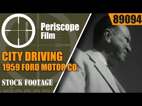 CITY DRIVING -- 1959 FORD MOTOR CO. DRIVER'S EDUCATION FILM  PHOENIX AZ  89094