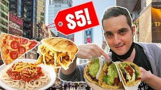 The BEST Cheap Eats in NEW YORK CITY ($5 Times Square Food Guide)