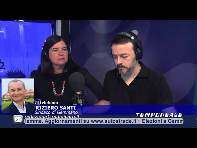 Riziero Santi resta sindaco di Gemmano. L'intervista a Tempo Reale (Icaro)
