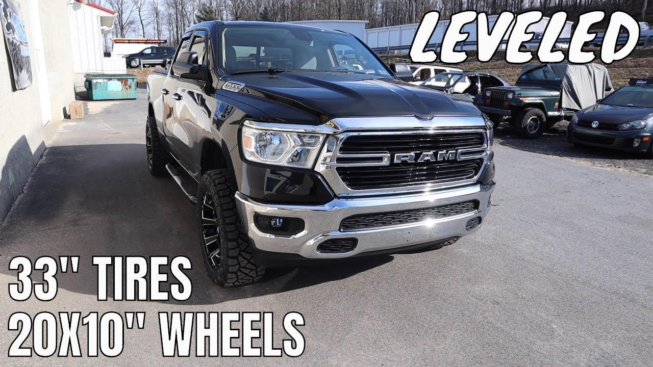 "Lifted Dodge Ram >> SIMPLE LEVELING 2019 Ram 1500 w/ 20X10"" Wheels & 33 ..."