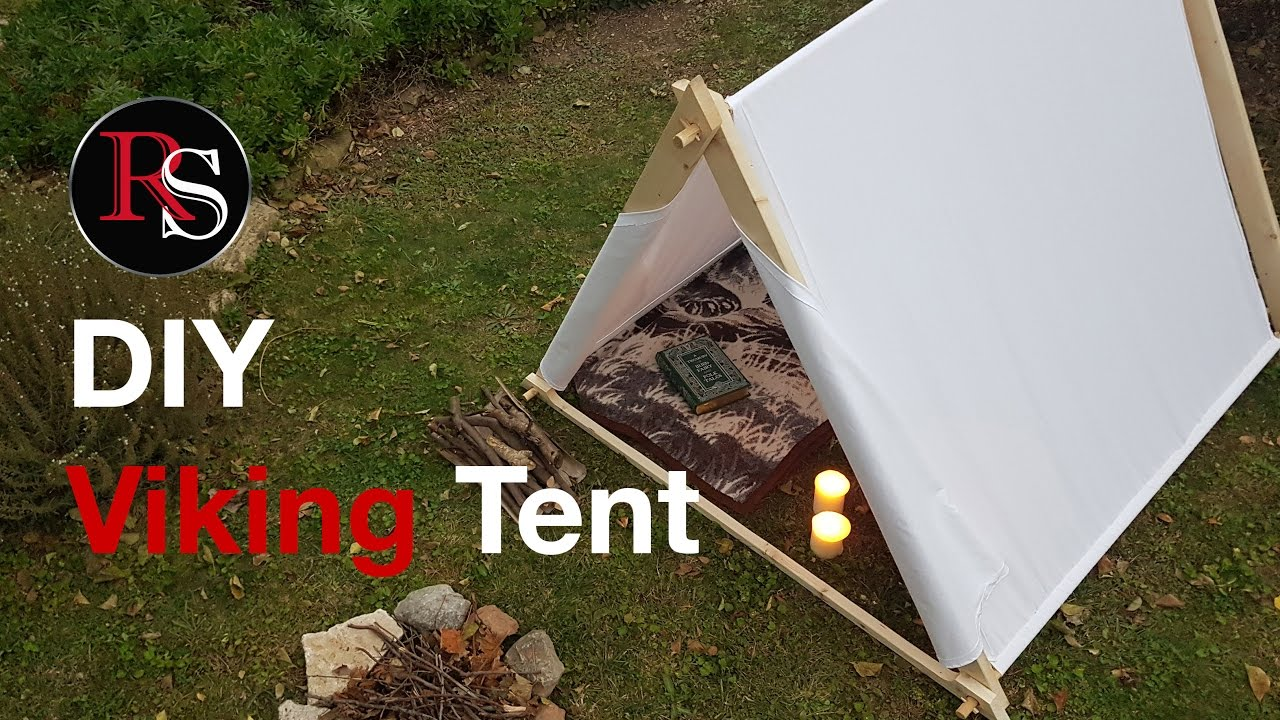 DIY - Making A Viking Canvas Tent - YouTube