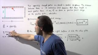 Electric Potential Energy Example