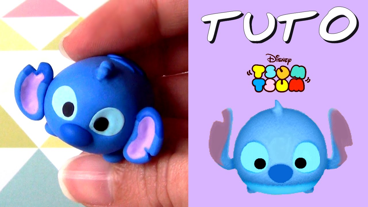 tuto fimo tsum tsum stitch de lilo et stitch youtube. Black Bedroom Furniture Sets. Home Design Ideas