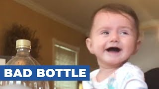 Baby Laughs Every Time Family Hits Soda Bottle
