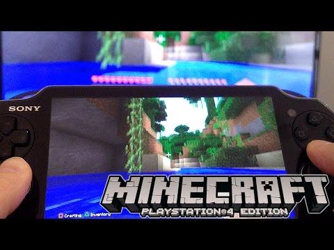 minecraft-playstation-4-review:-vita-remote-play,-split-screen