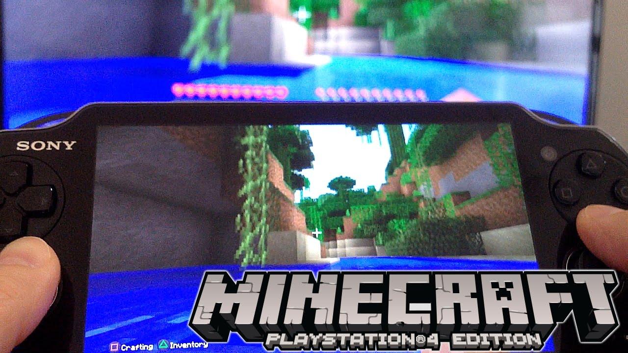 Minecraft PlayStation Review Vita Remote Play Split Screen YouTube - Minecraft spiele fur ps vita