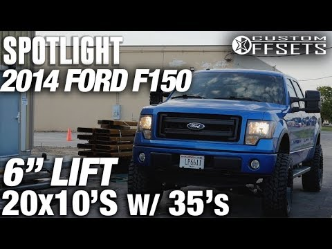 """Spotlight - 2014 Ford F150, 6"""" Lift, 20x10 -24's, and 35's"""