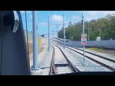 Stage 2 of the Gold Coast Light Rail from Helensvale station to Gold Coast University Hospital.