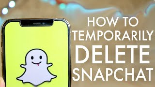 How To Temporarily Disable Snapchat Account!