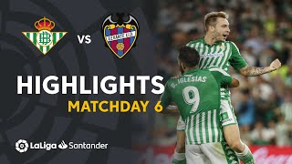 Highlights Real Betis vs Levante UD (3-1)
